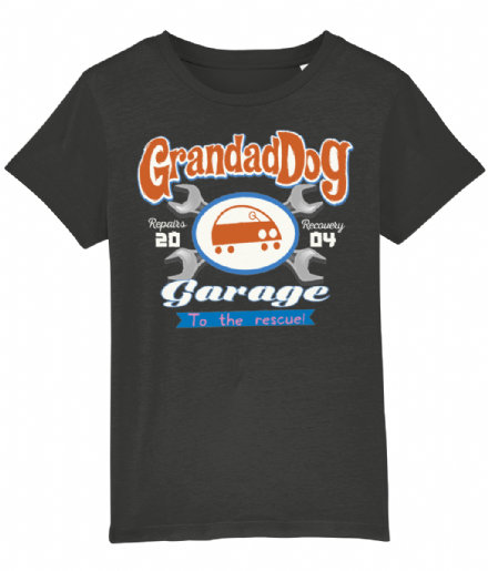 Grandad Dog Garage Kids T-Shirt Inspired by Peppa Pig